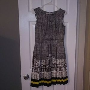 Unique patterned acrylic dress with a cotton liner